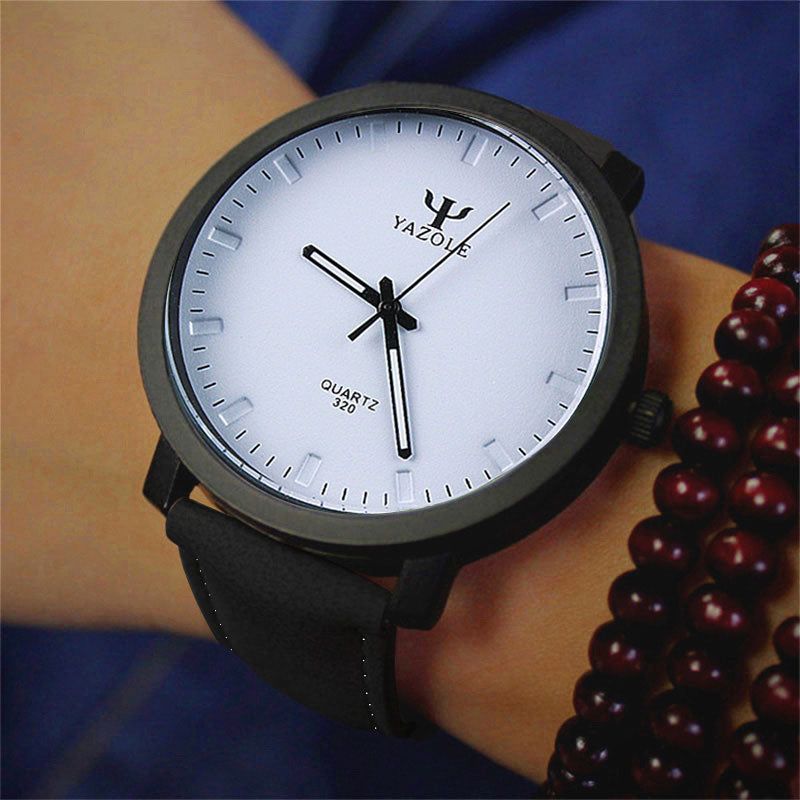 Leather Quartz Men Wrist Watch