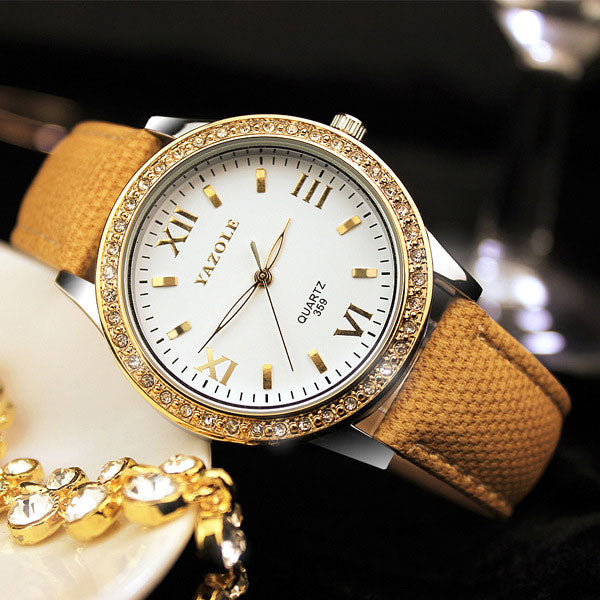 Golden Diamond Ladies Watch