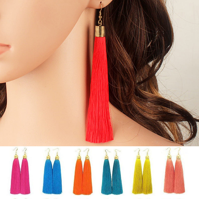 Water Drop Long Earrings Fashion Jewelry Gold Plated
