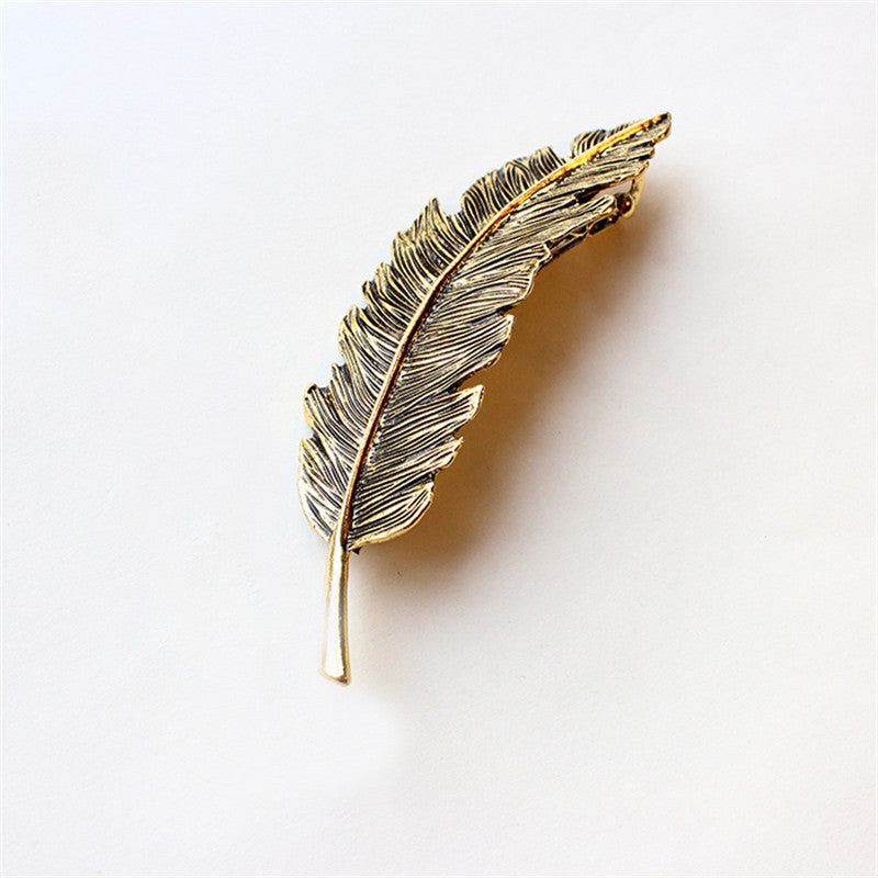 Metal Leaf Hair Clip Girls Hair Accessories