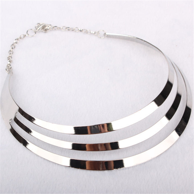 Choker Necklace Gold Silver Chain Party Collar Statement