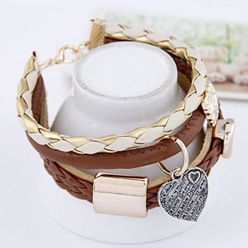 Women's Fashion Jewelry Leather Bracelet & Bangle