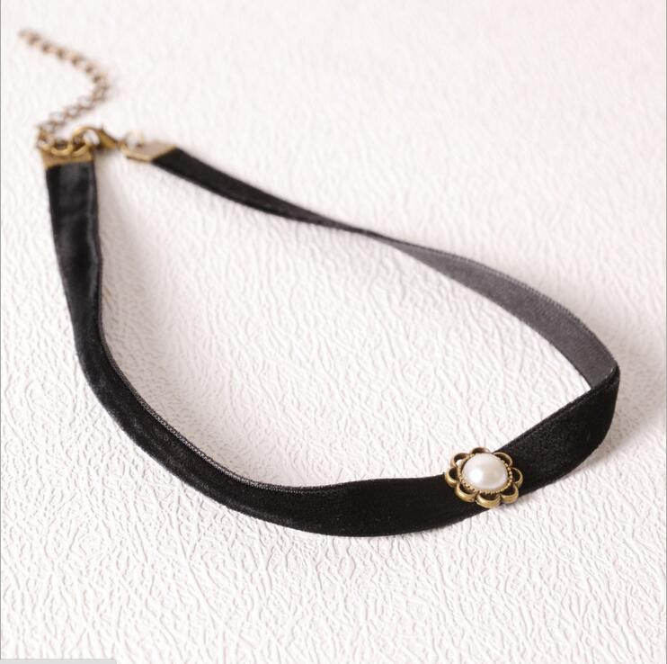 Velvet Ribbon Necklace Jewelry