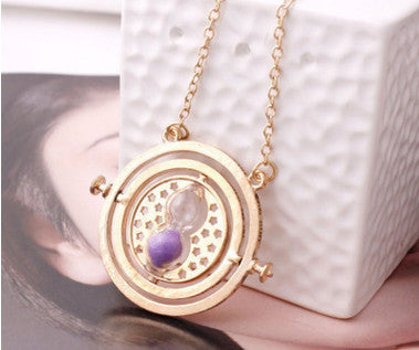 Gold Plated Time Turner Vintage Pendant