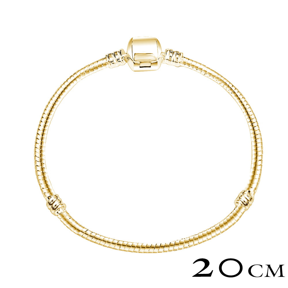 Silver Plated & Gold Plated Snake Chain Bracelet