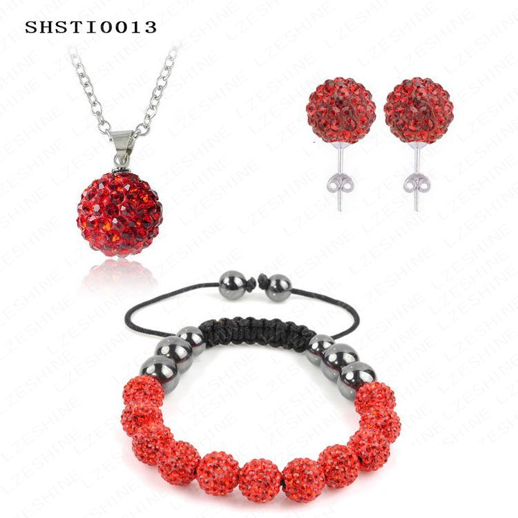 Fashionable Shamballa Jewelry Set With Disco Ball