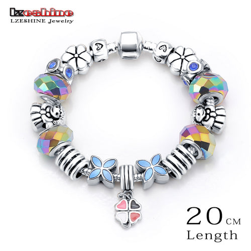 European Style Romantic Silver Charms Beads Fit Bangle & Bracelet