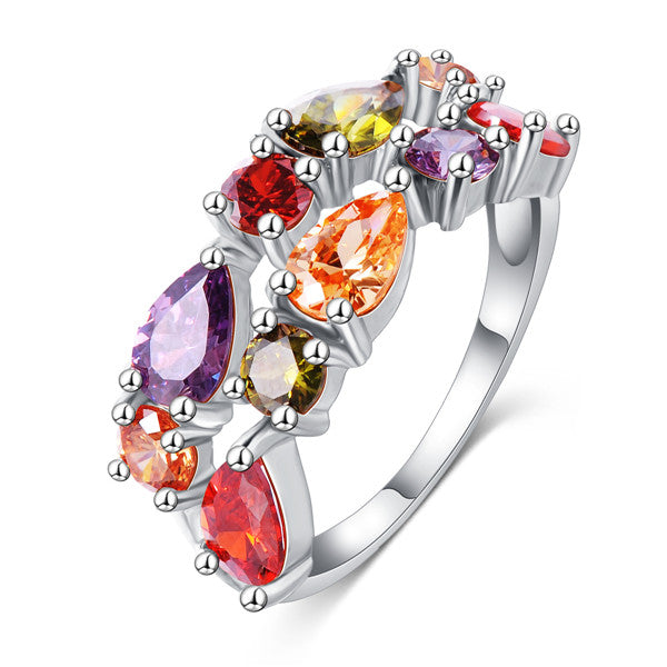 Colorful Diamond Wedding Ring