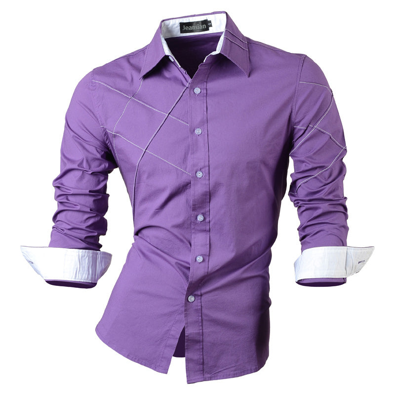 Long Sleeve Social Slim Fit Brand Cotton Shirt