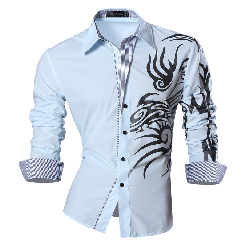 Features Long Sleeve Slim Fit Shirts