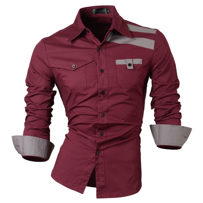 Casual Slim Fit Korean Styles Cotton Shirt