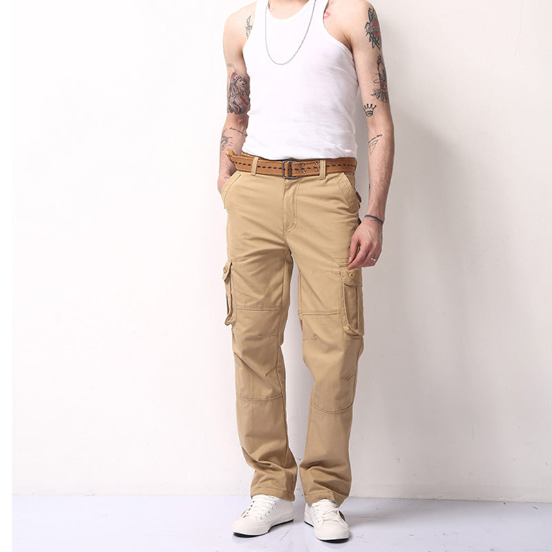 30-44 Plus size High-Quality Cargo Multi Pocket Long Trousers