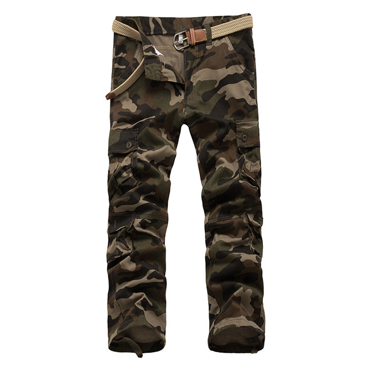 Casual Cargo Joggers Military Multi-Pocket Army Camouflage Trousers