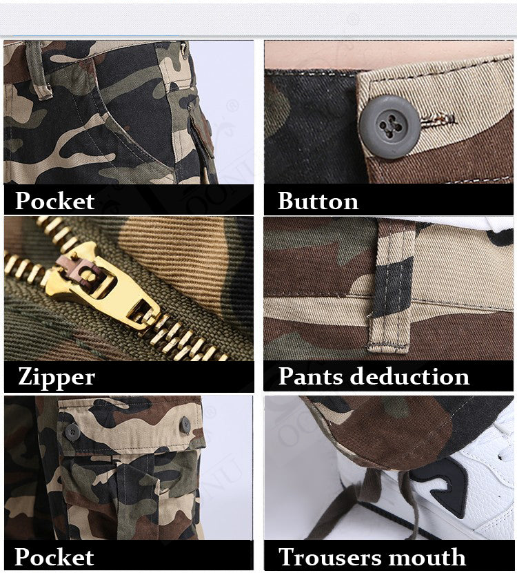 Cargo Military Multi Pocket Trousers Camouflage Fashion