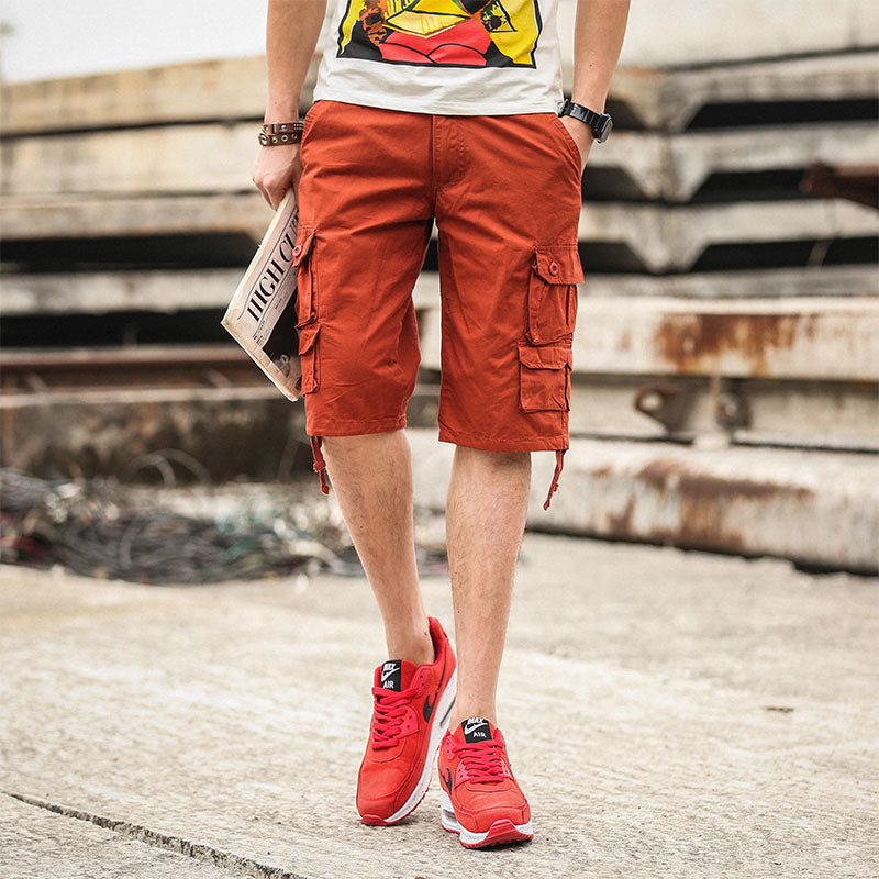 Multi Pockets Casual Men Short