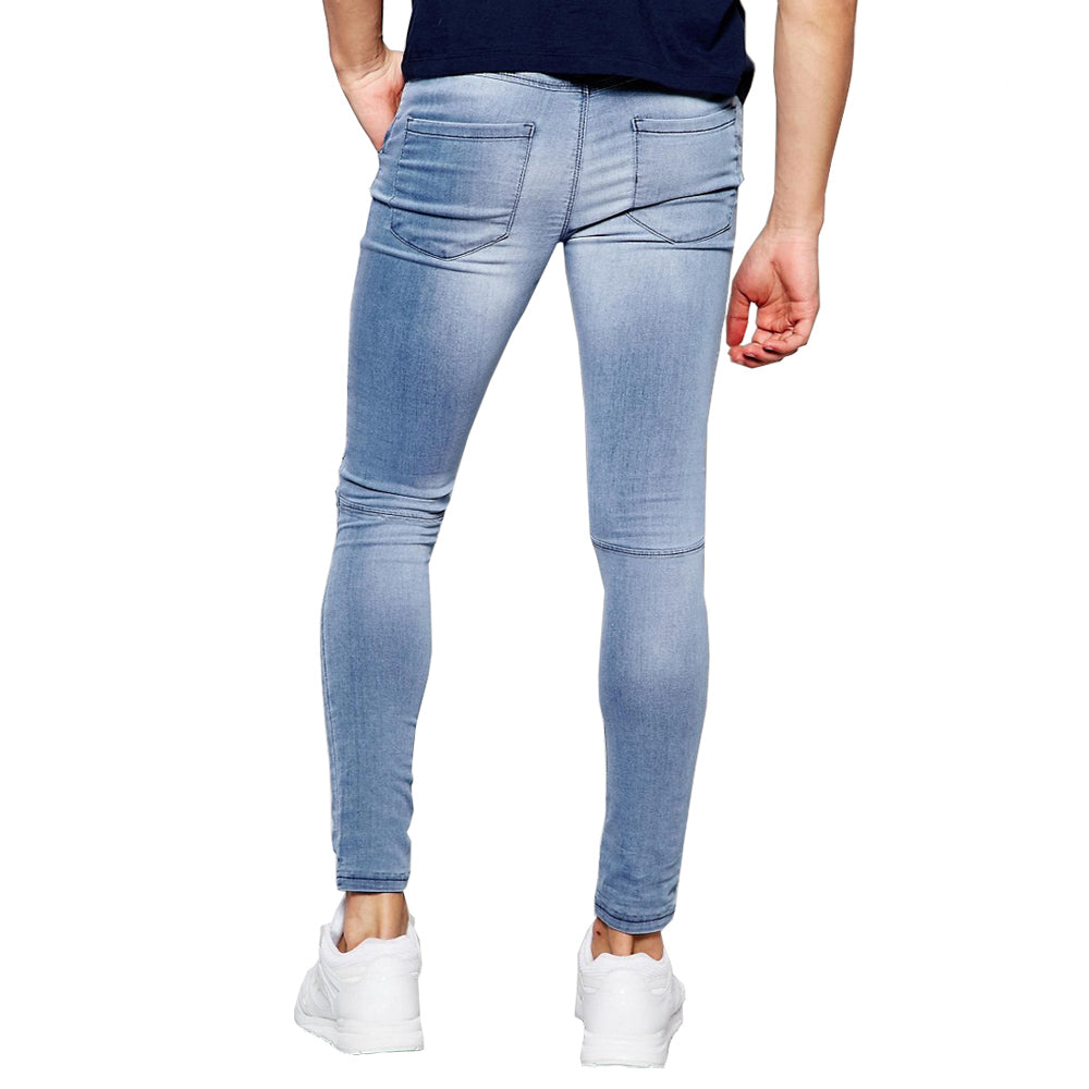 Extreme Rips Hole Hip Hop Fashion Slim Denim Jeans