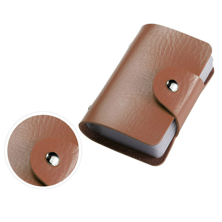 24 Bits Fashion Unisex Credit Card PU Leather Holder