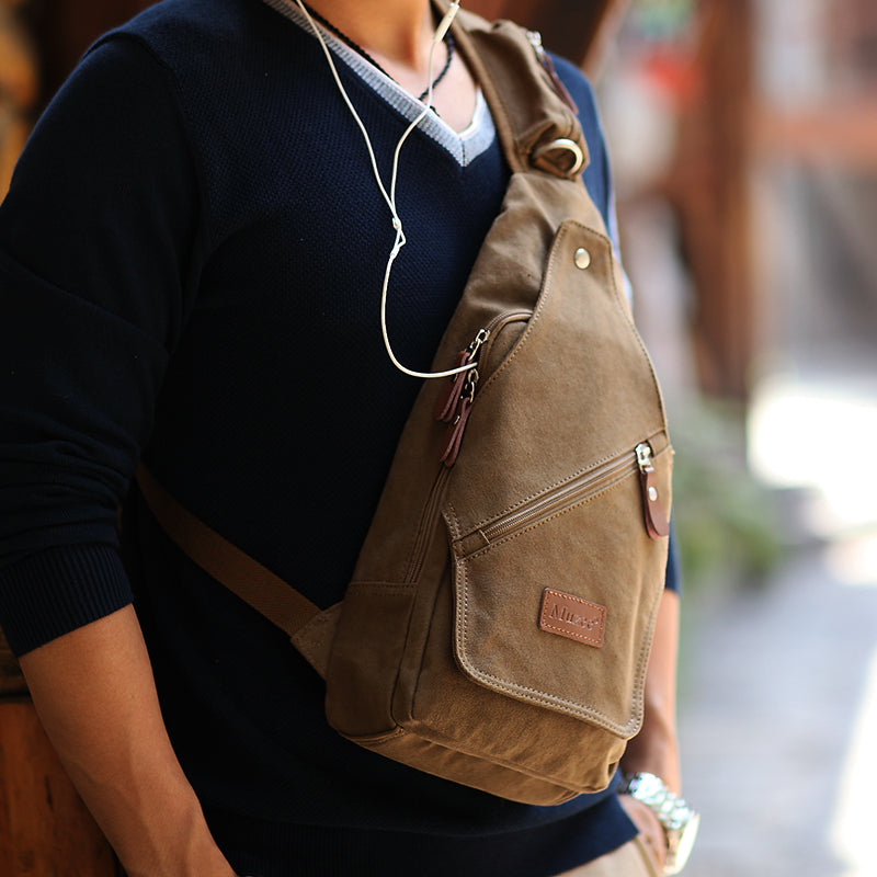 High Quality Canvas Men Chest Pack