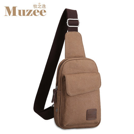 Men's Chest Pack Canvas Multifunctional Bag