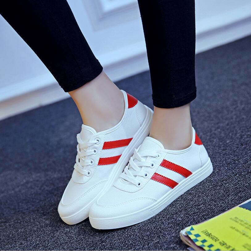 Casual Lace-up Classic Canvas Shoes With Luminous Shoelaces