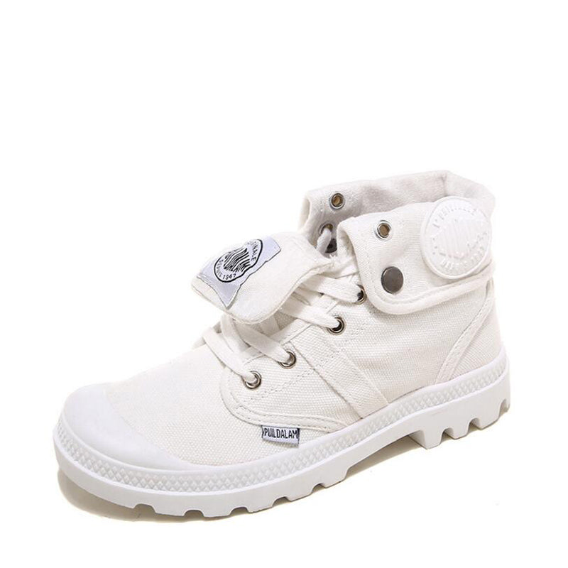 Canvas White Breathable Flat Vulcanize Shoes