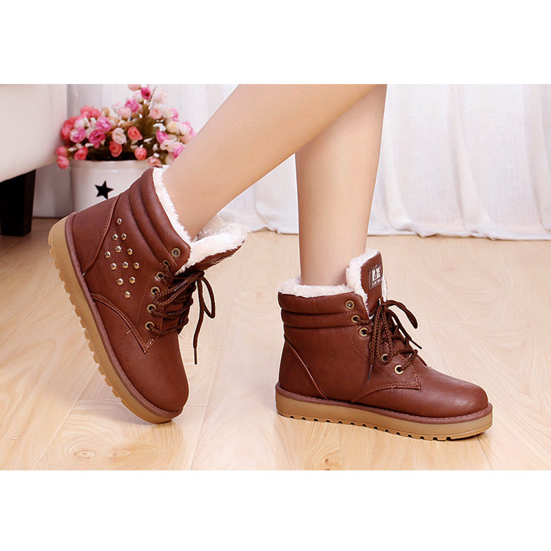 Snow Cotton-Padded Thickening Platform Ankle Boot