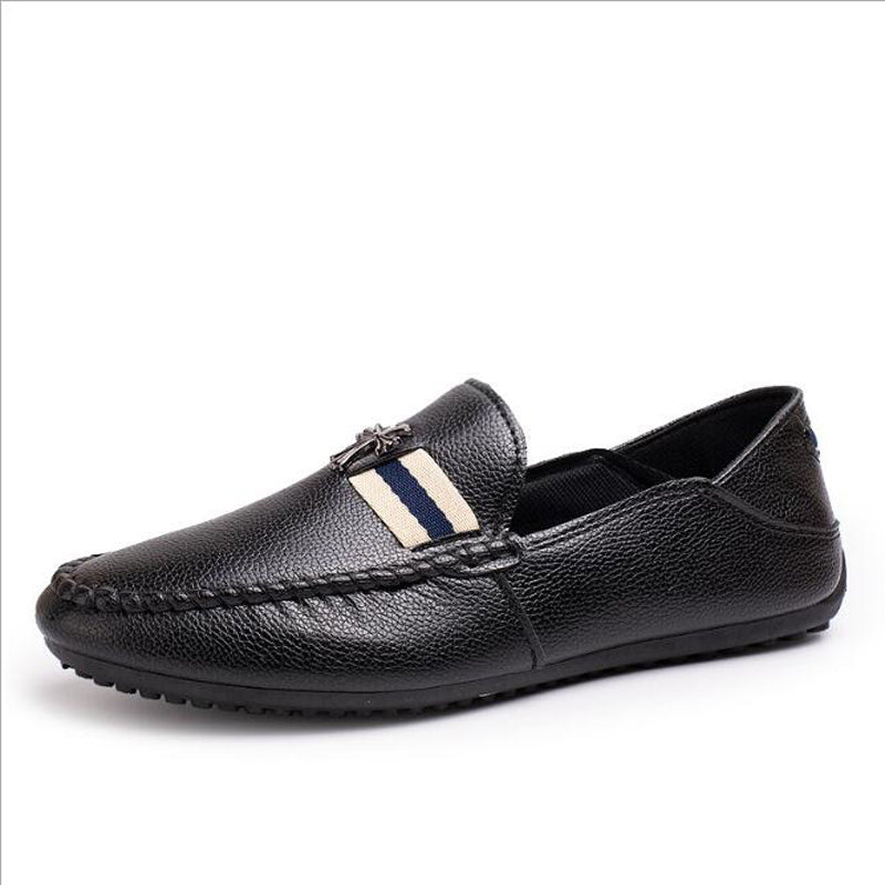 High-Quality Genuine Leather Flat Slip-On Shoe