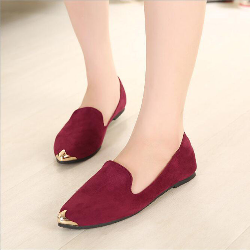 Casual Solid Metal Decoration Shoes women