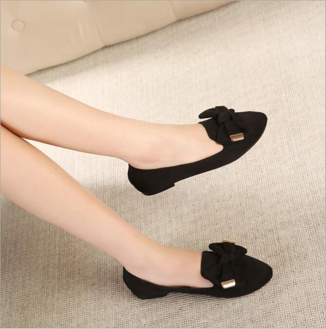 Slip-On Flats Breathable Flock Plus Size Loafer shoes