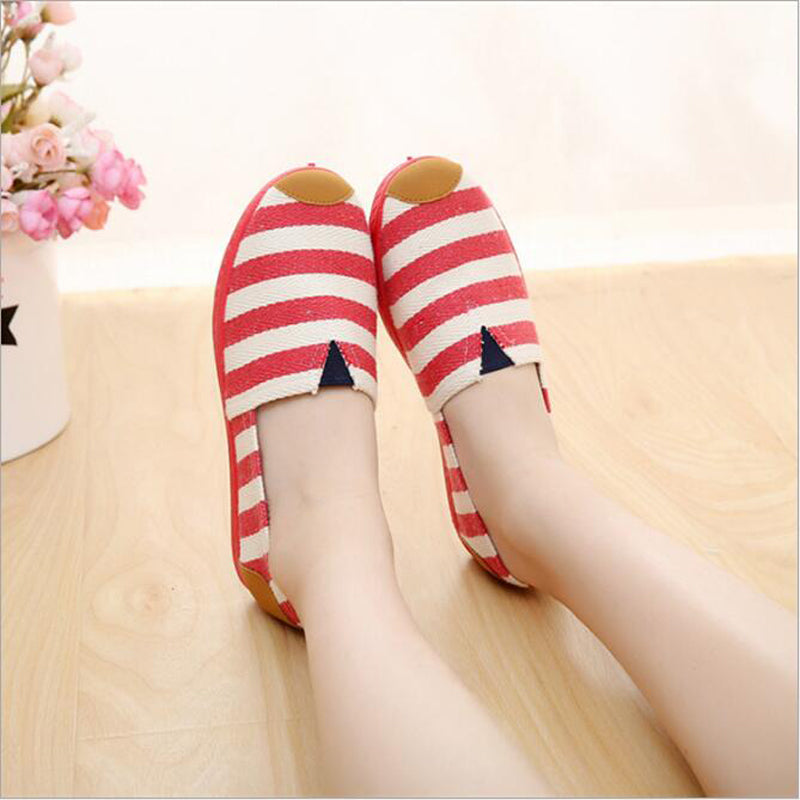 Casual Flat Striped Shoes