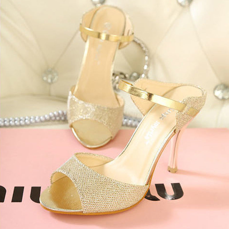 High Quality PU High Heels Sandals