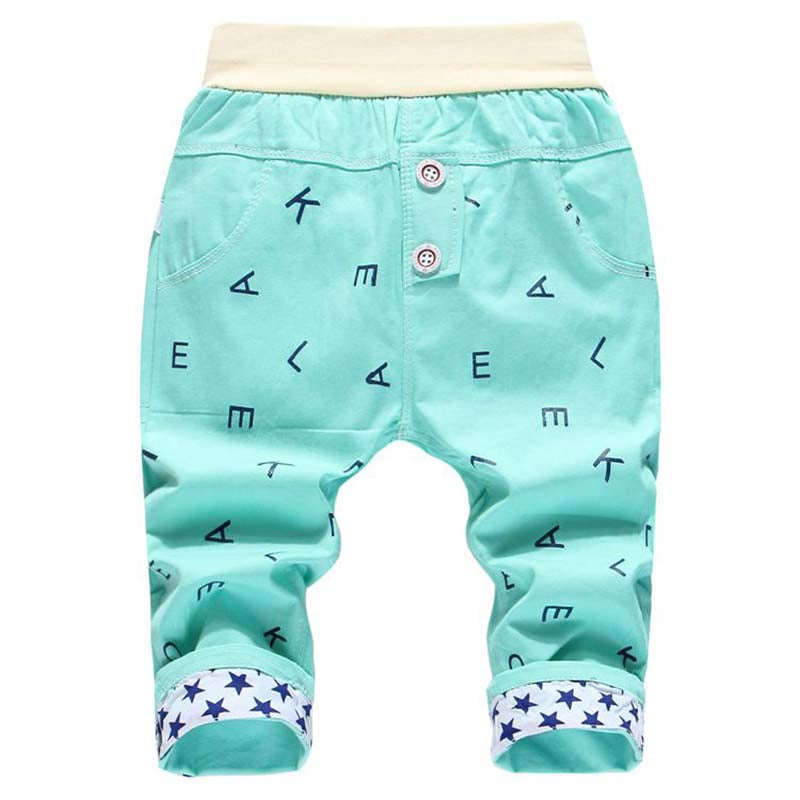 Cartoon Child Boys Calf-Length Pants