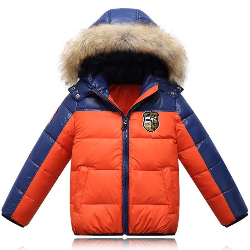 Children Patchwork Down Outerwear Jacket