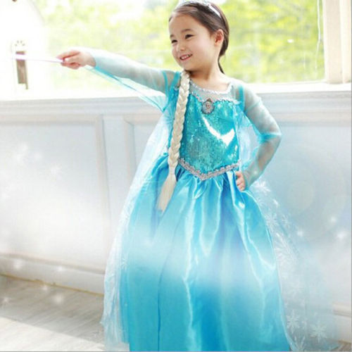 High Quality Princess Girls Dress Costume