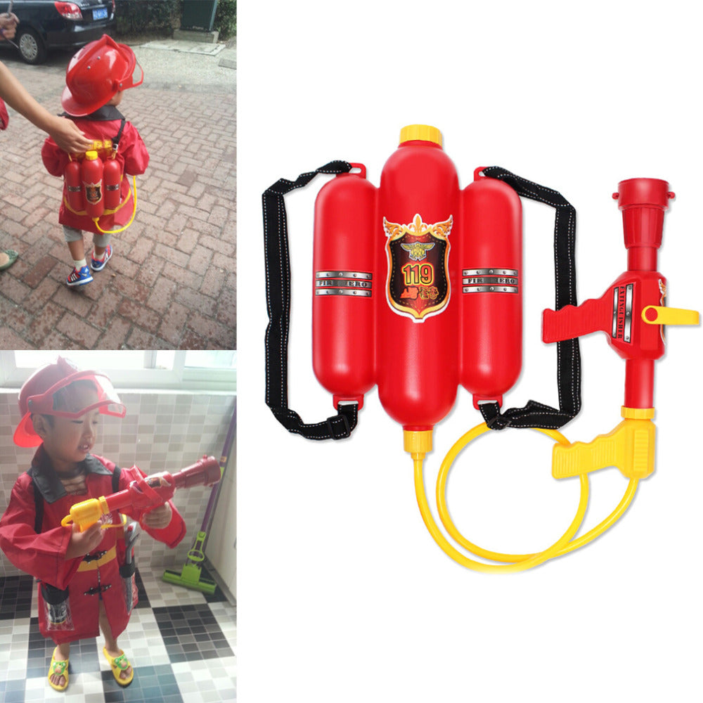 Water Fight Child Fire Backpack Nozzle Water Gun Toy