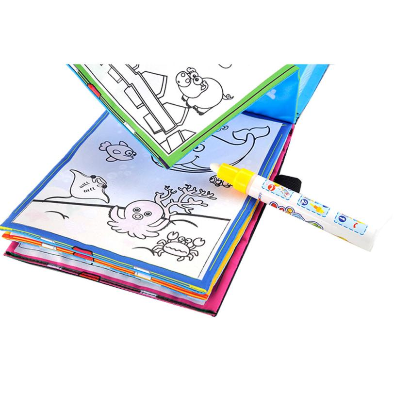 Coloring Book, Animals Painting, Magic Water Drawing