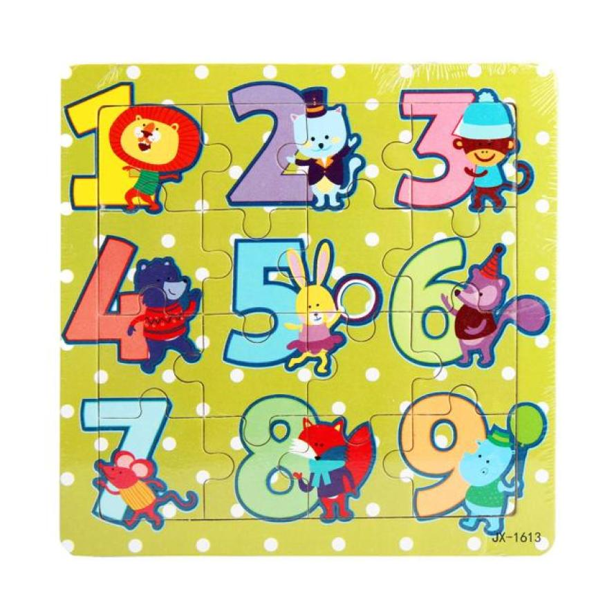 Lovely Children Wooden Puzzles Number 1-9