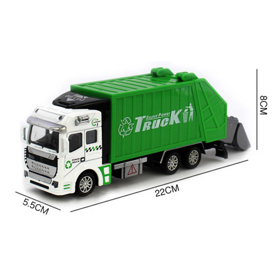 Large Pull Back Garbage Truck Toy