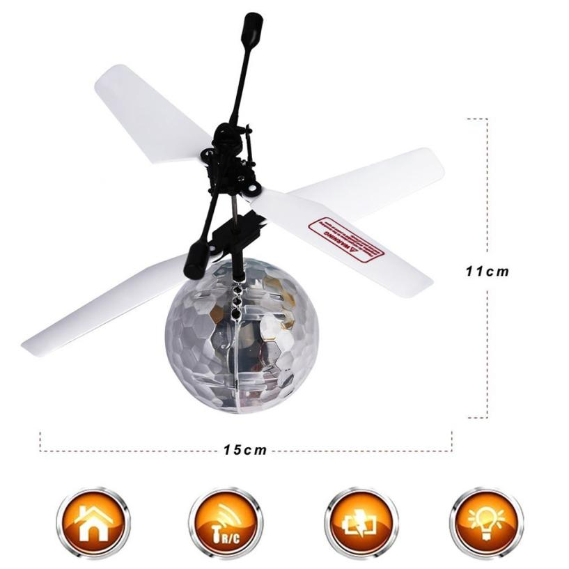 RC Toy EpochAir RC Flying Ball RC Drone Helicopter Ball Built-in Disco Music With Shinning LED Lighting