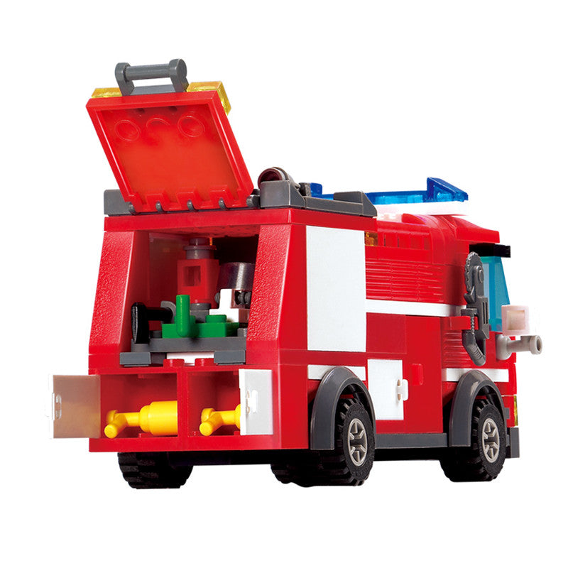Fire Truck Building Blocks Small Particles DIY Educational Toys