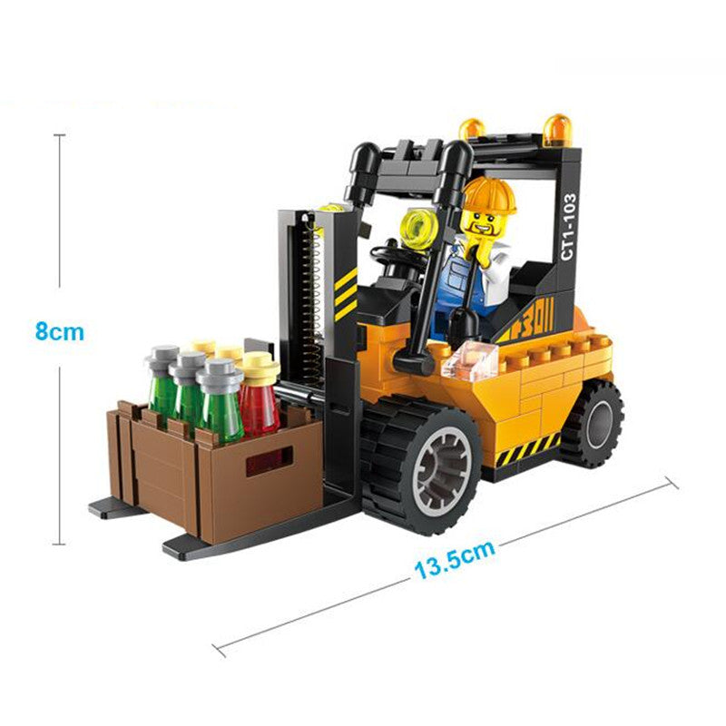 115pcs/set Forklift Trucks Assembly Building Blocks Kits