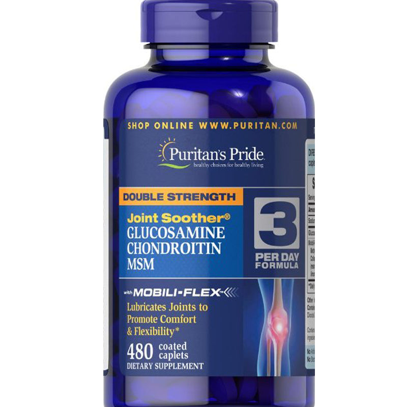 Double Strength Glucosamine, Chondroitin & MSM Joint Soother 480 Caplets