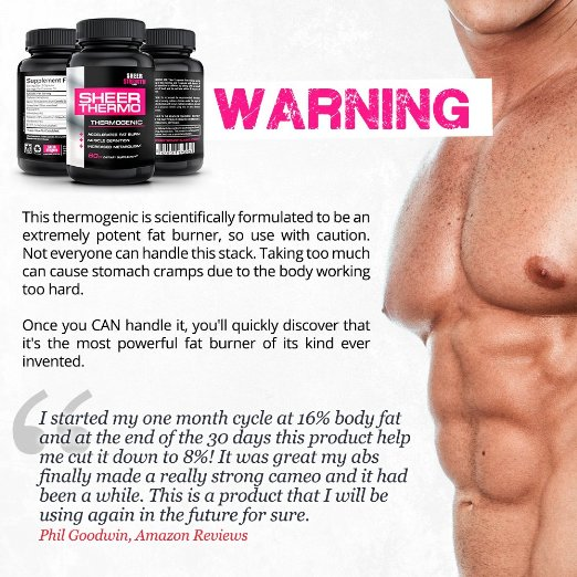 Sheer Thermo Thermogenic Supplement Proven Science-Based Formula With Yohimbe Lose Weight