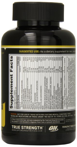Optimum Nutrition Opti-Men Supplement 90 Tablets