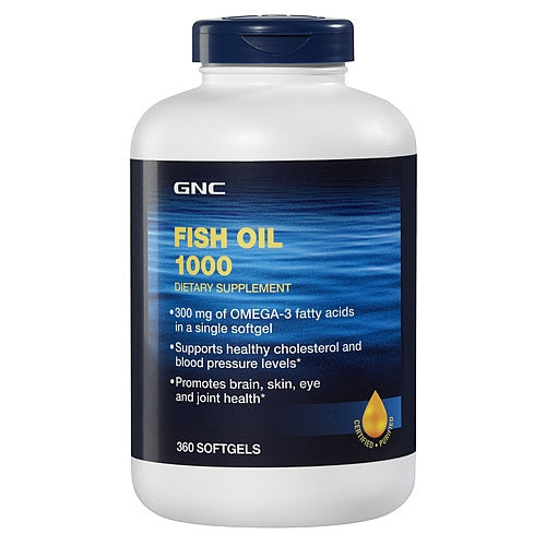 GNC Fish Oil 1000 360 Softgel Capsules