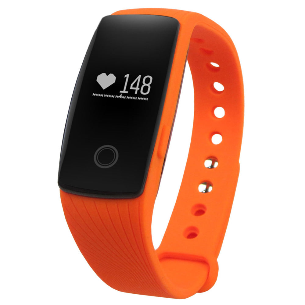 Heart Rate Smart Bracelet Watch Wireless Fitness Tracker For Android & iOS