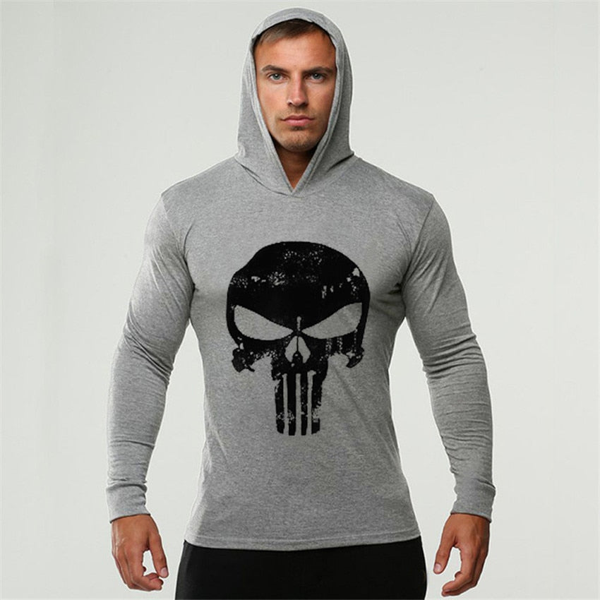 Fashion Long Sleeve Bodybuilding Hoodie