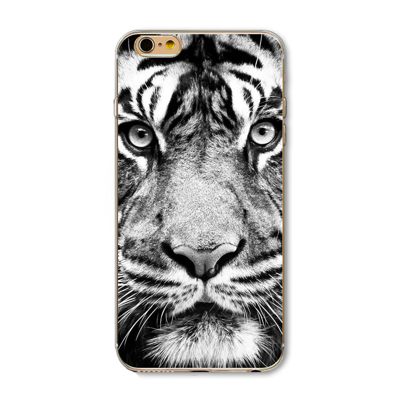 Cute Cat Tiger Skull Pattern Cell Phone Cases Design For iPhone