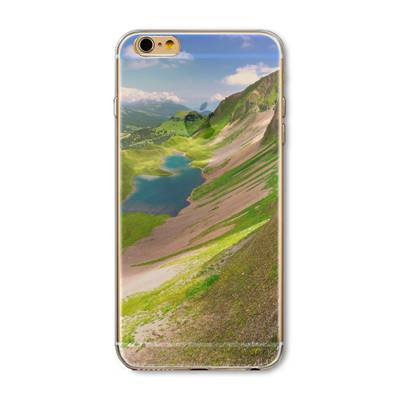 Ultra Thin Soft Silicon Mountain Landscape Case For iPhone