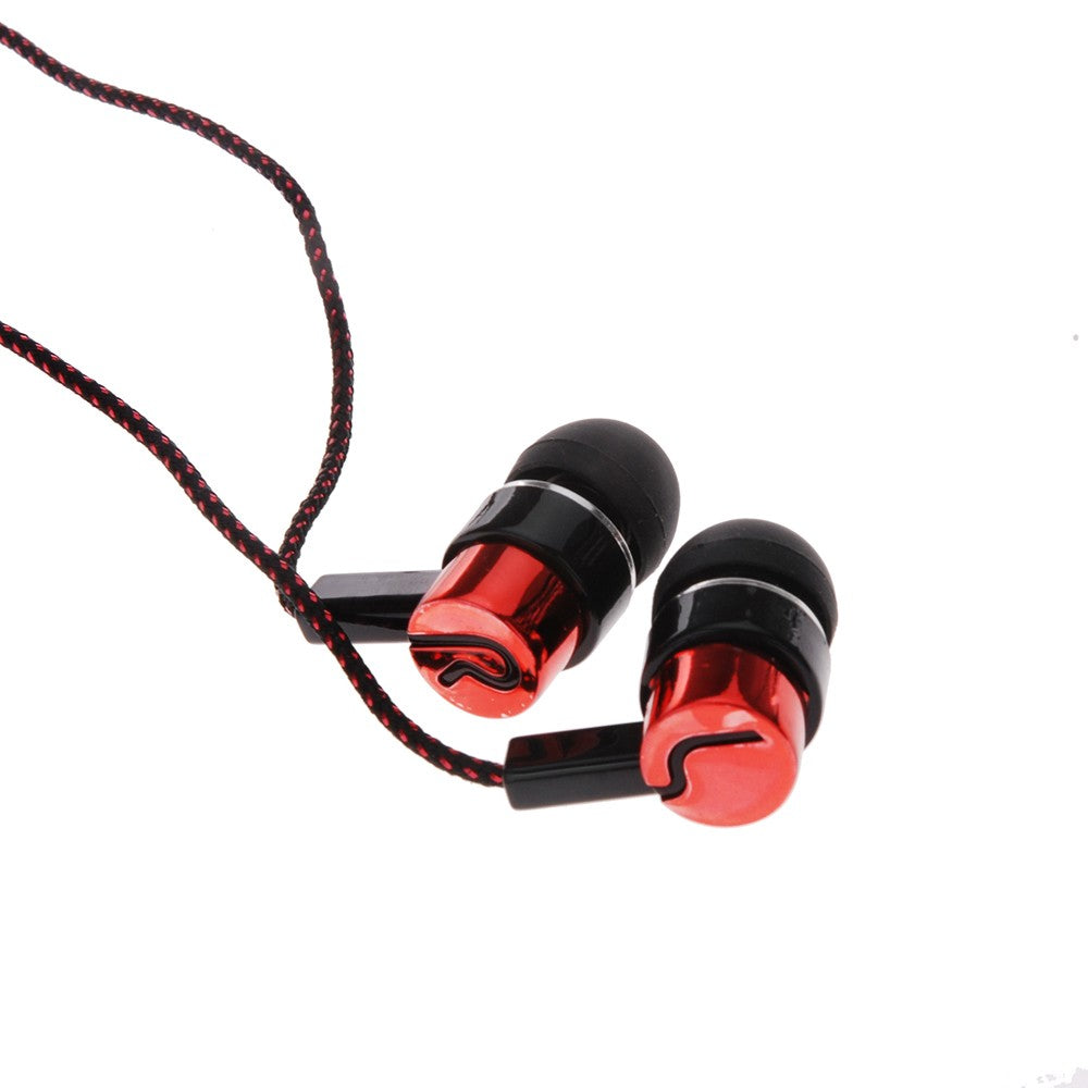 Earphones Standard Noise Isolating Reflective Fiber Cloth Line